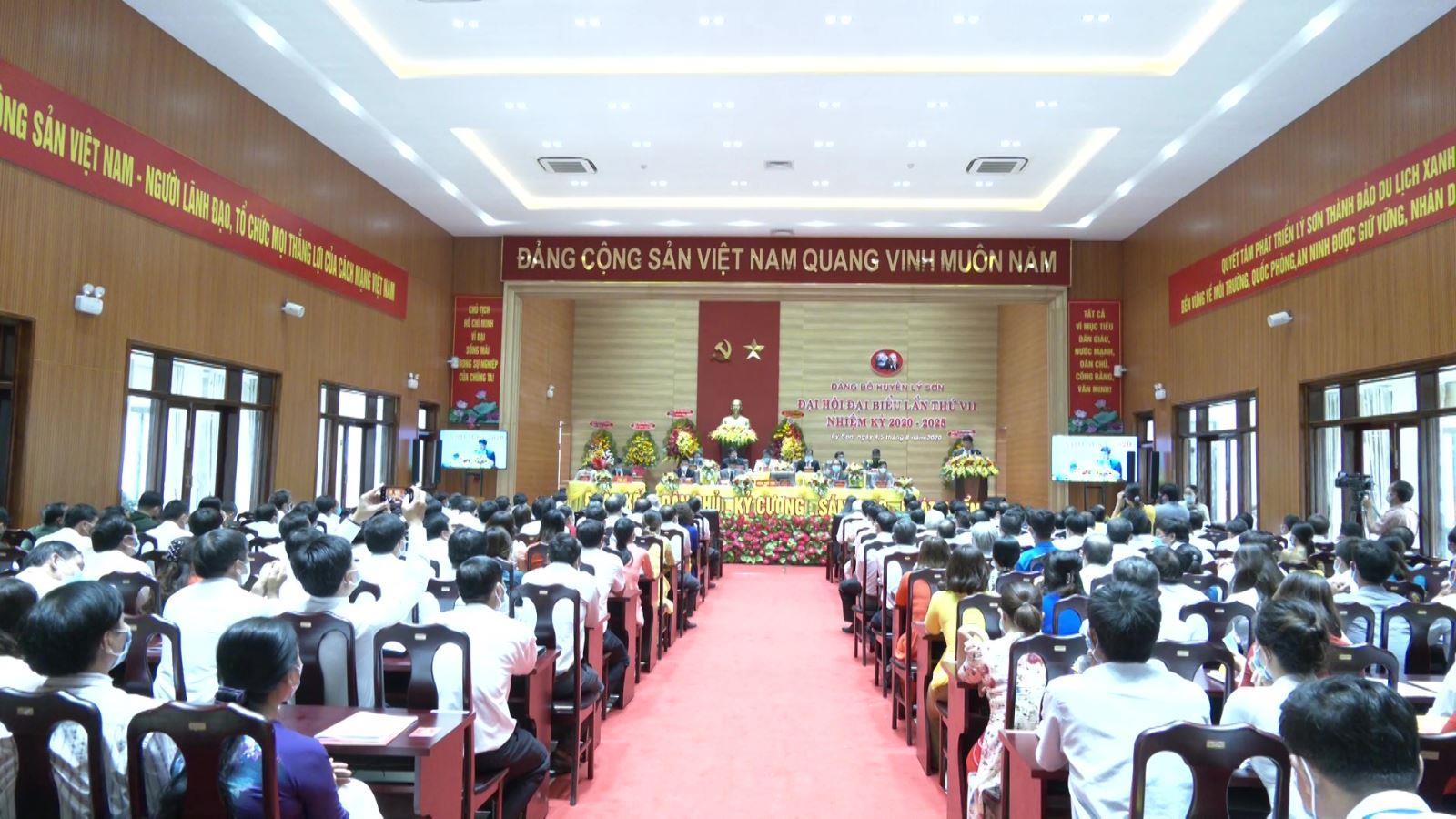 Đại hội đại biểu Đảng bộ huyện Lý Sơn lần thứ VII thành công tốt đẹp